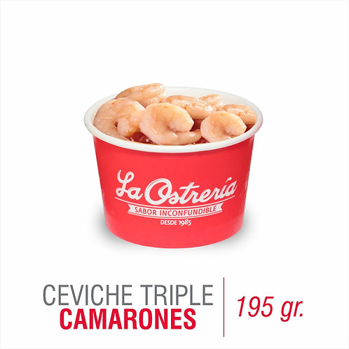 Ceviche Triple de camarones