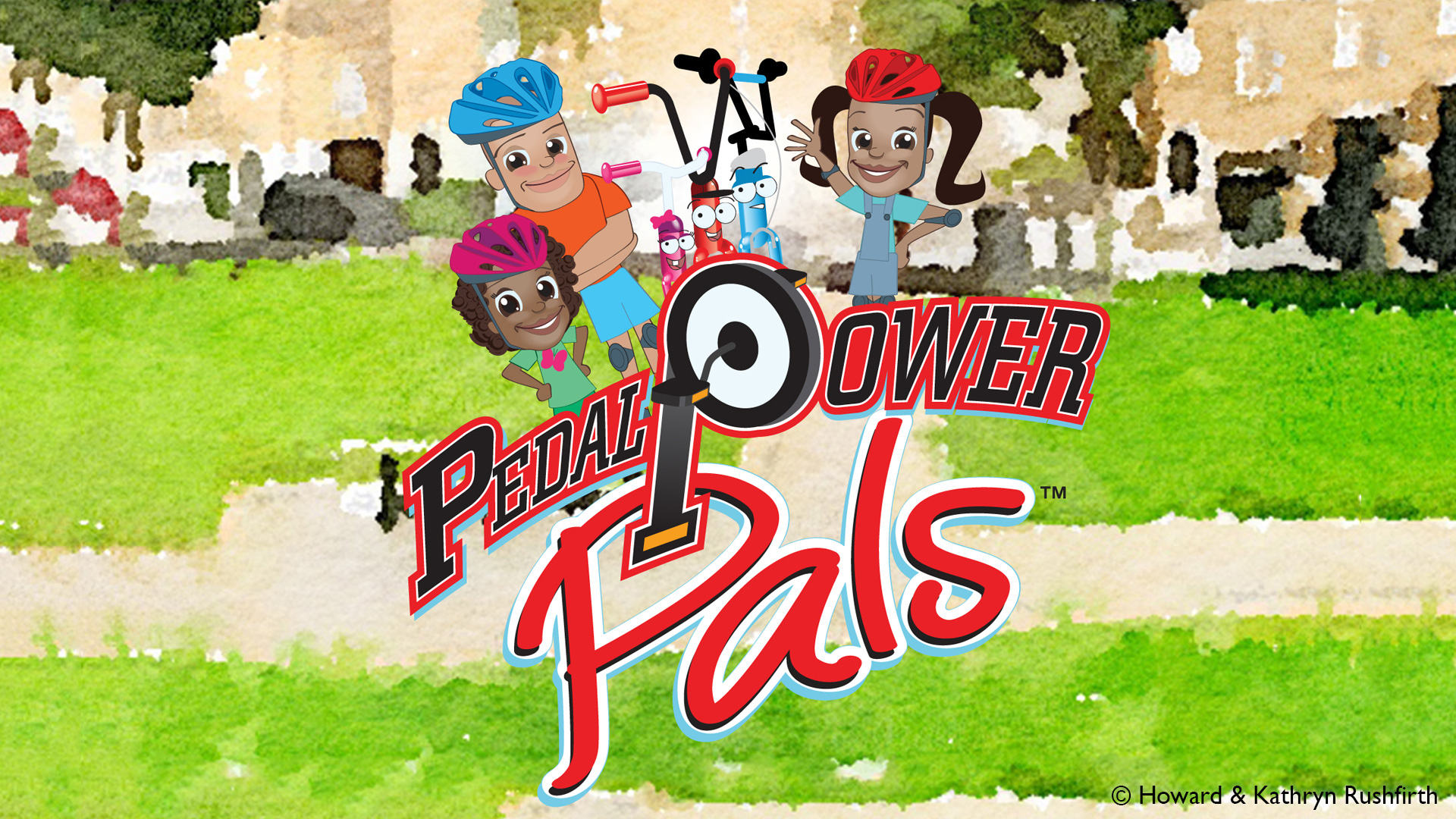 Pedal Power Pals Logo and Characters