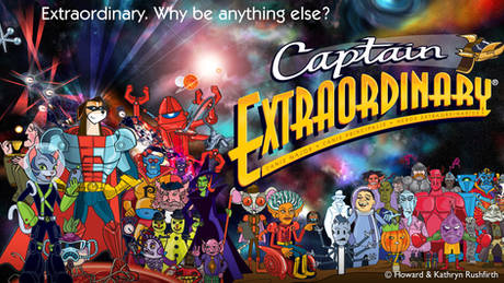 Captain Extraordinary ensemble of animated comedy characters
