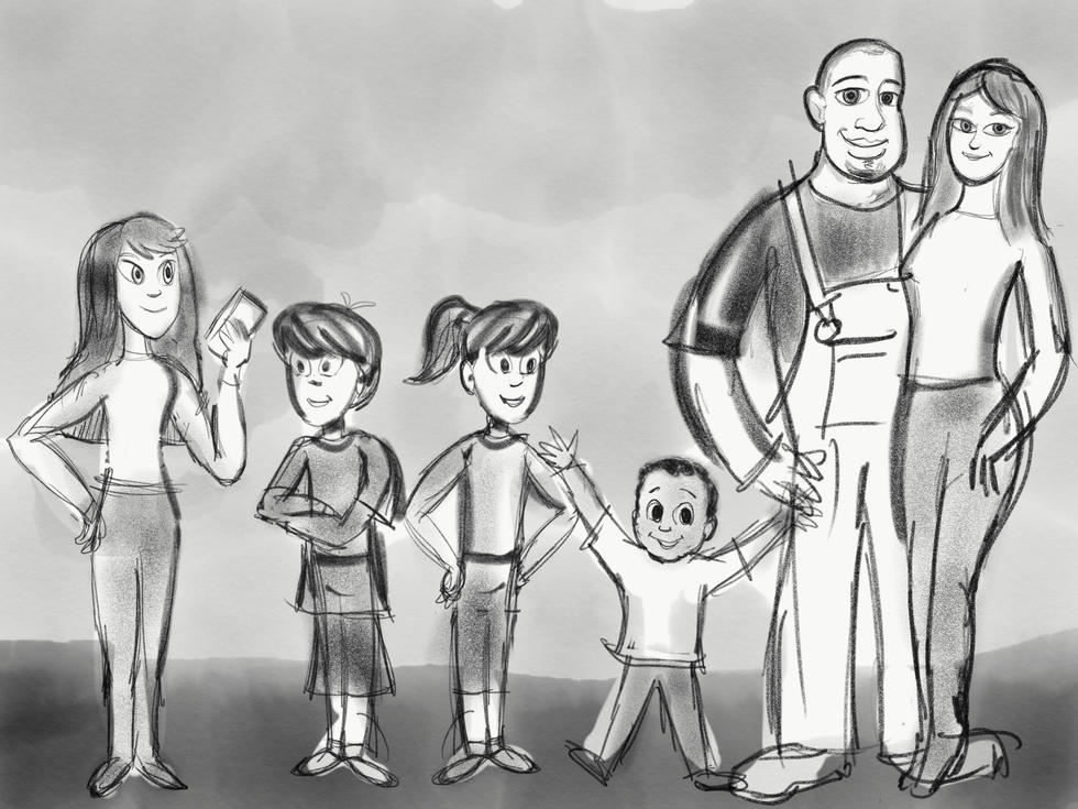En early version of the Shaw family.