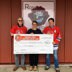 Campbell River Oldtimers Hockey Club 2018 Donation