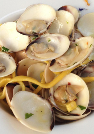 Pasta with fresh clams