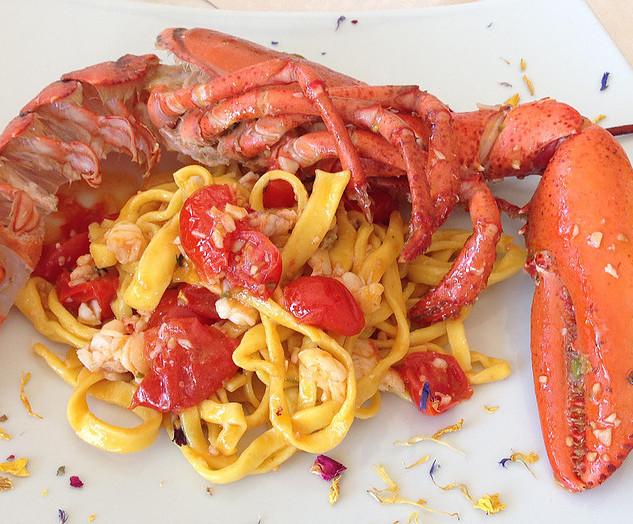 Tagliatelle with fresh lobster