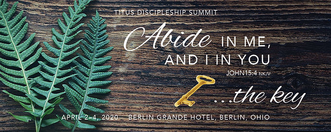 Abide in Me and I in You....the Key  John 15:4