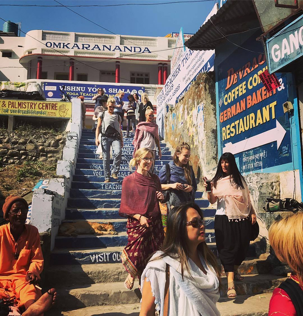 Wandering in to the markets of Rishikesh
