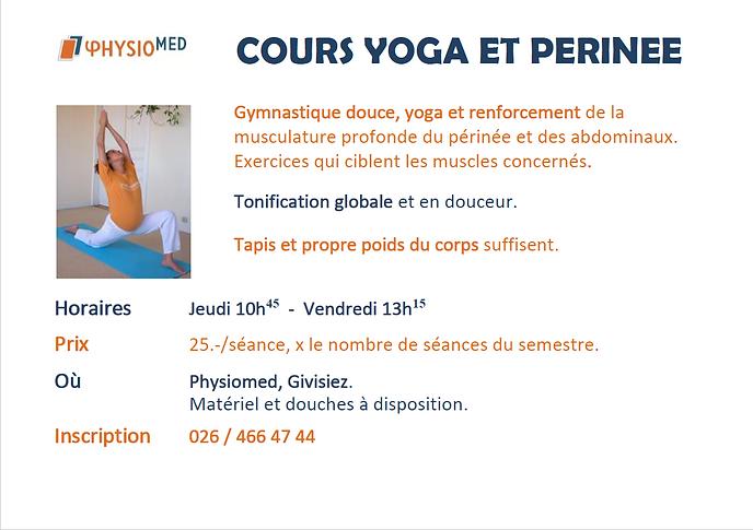 Yoga et périnée