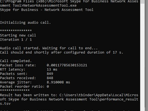 #Sfb and #MSTeams Network Testing Companion
