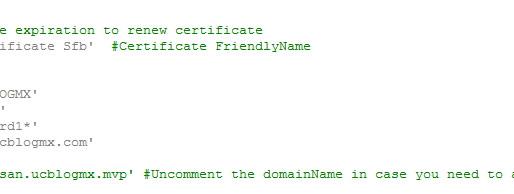 SfB Ext Edge Certificate Automatic Request