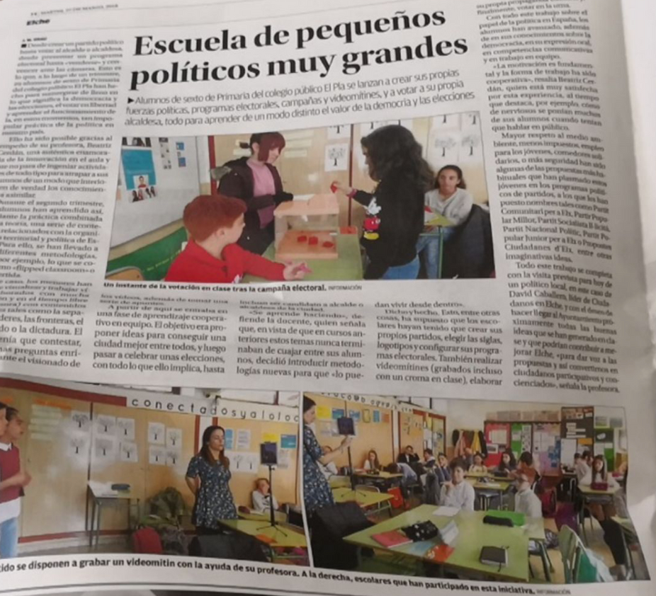 """Compartiendo experiencias (I): """"Escuela de pequeños políticos muy grandes"""" con Beatriz Cer"""