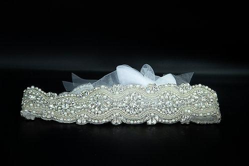 Belte til brudekjoler eller festkjole med steiner og perler