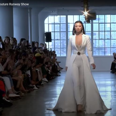 Berta Bridal couture runway show