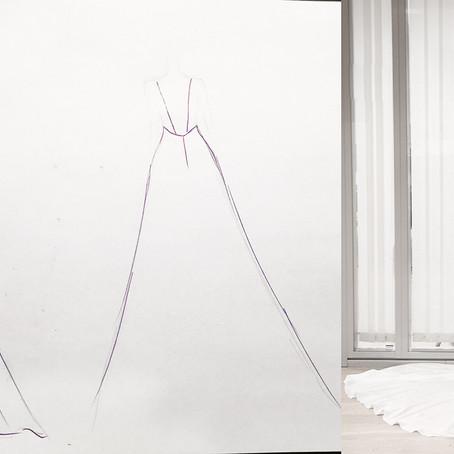 En skreddersydd brudekjole i silke