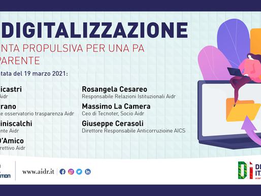 Misure anticorruzione e trasparenza della PA, approfondimento a Digitale Italia