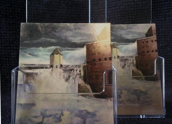 Postkort -Solbergfoss kraftverk Askim