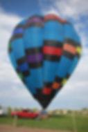 Our Hot Air Balloon getting ready for a hot air balloon ride in Albuquerque