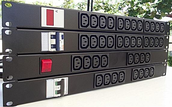 Multipresa IEC C13 con magnetotermico, differenziale, amperometro