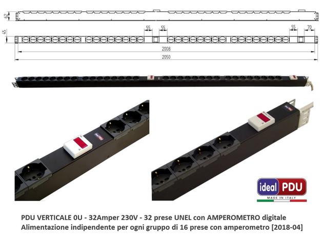 """PDU da record ! Progettazione & produzione multipresa rack """"su misura""""."""