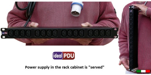 "Le informazioni necessarie ed importanti per individuare la multipresa rack ""Ideal PDU"". 1"