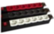 Multipresa rack con presa colorata, colore rosso grigio bianca