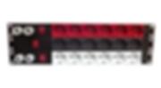 Ciabatta rack presa colorata rosso, bianca, grigia per schuko