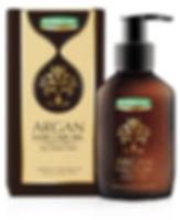 argan hair care oil packaging design
