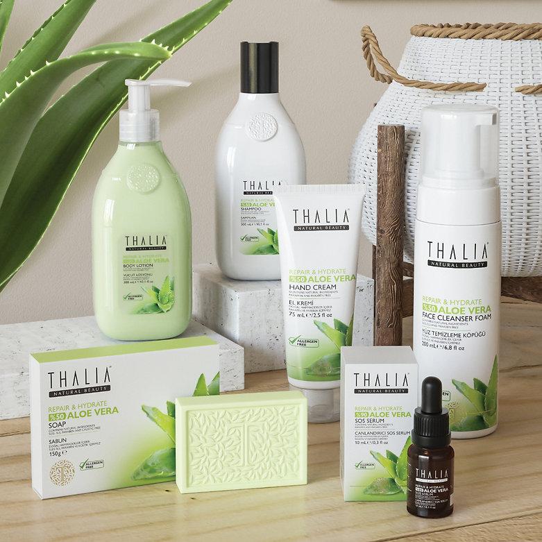 thalia aloe vera sets packaging design