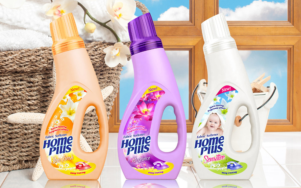 home plus fabric softener packaging design