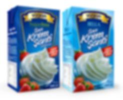 vizyon whipping cream packaging design