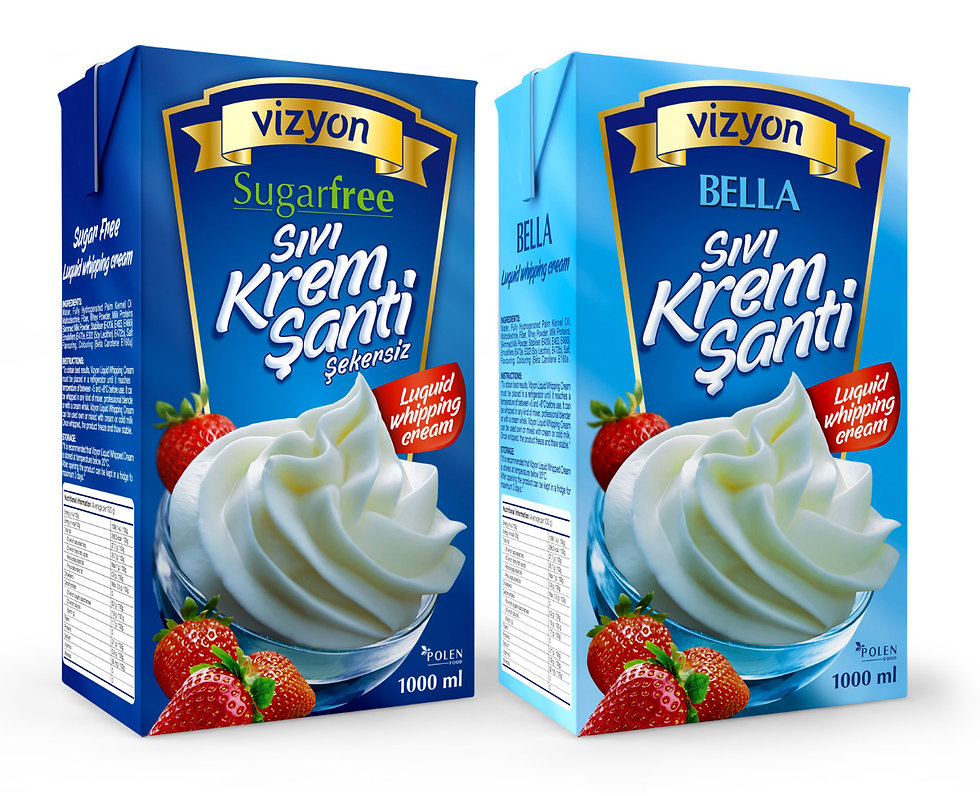 vizyon whipping cream packaging design
