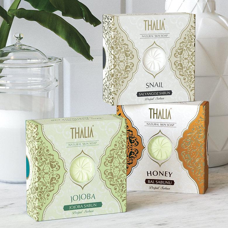 thalia jojoba salyangoz bal sabun ambalaj tasarımı
