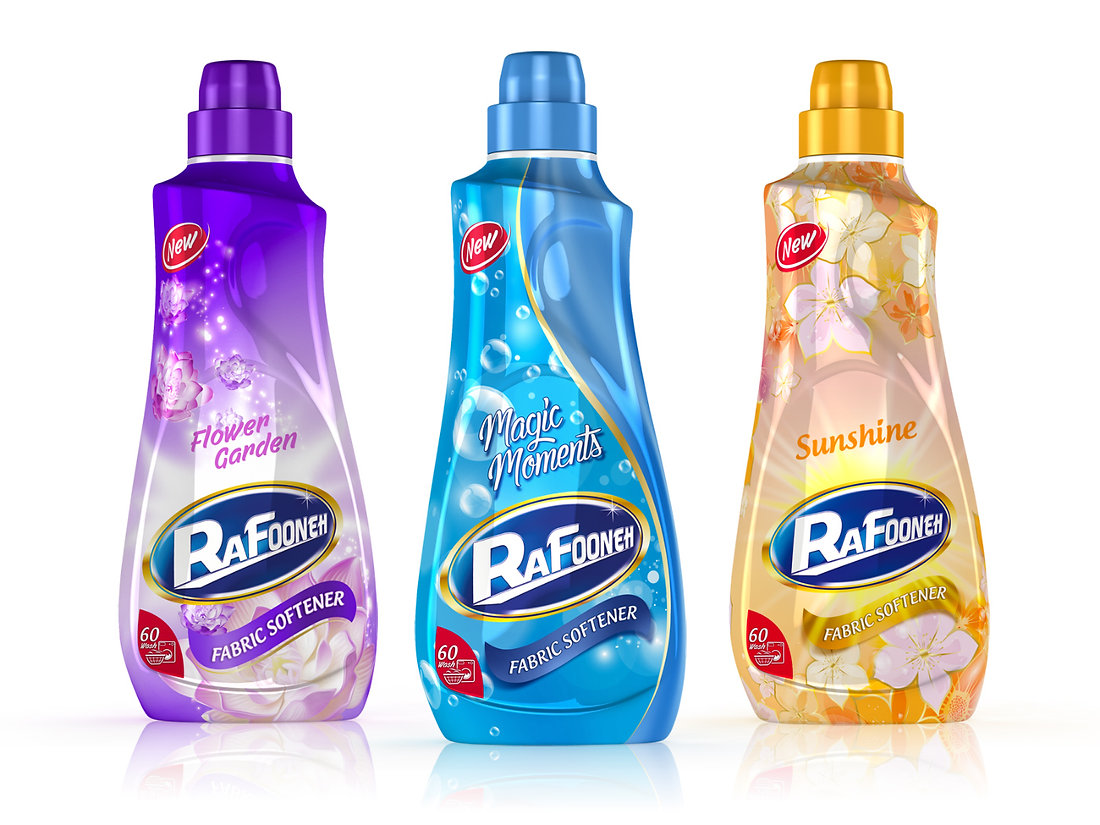 rafooneh fabric softener packaging design