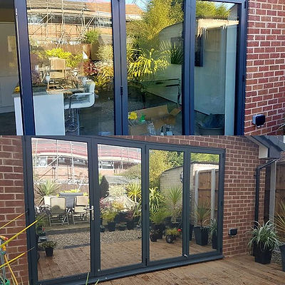 Some 3m solar film added to these patio doors to help keep it warmer in winter and cooler in summer