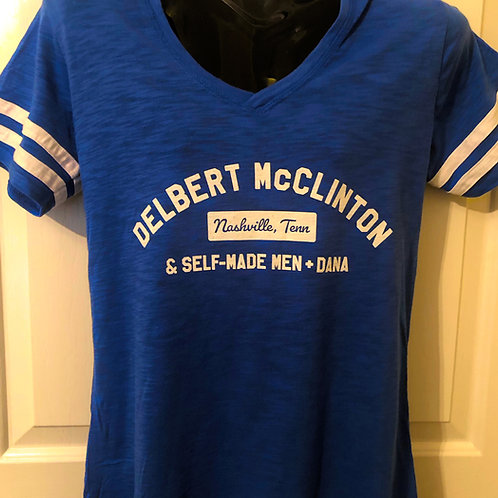 Women's T-Shirt: Delbert McClinton & Self Made Men + Dana