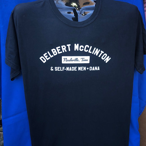 T-Shirt: Delbert McClinton & Self-Made Men + Dana - Black