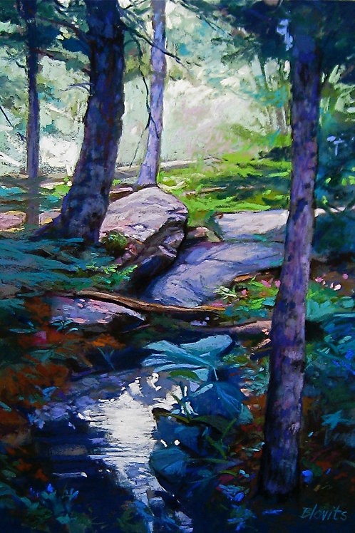Woodland Contrast - pastel
