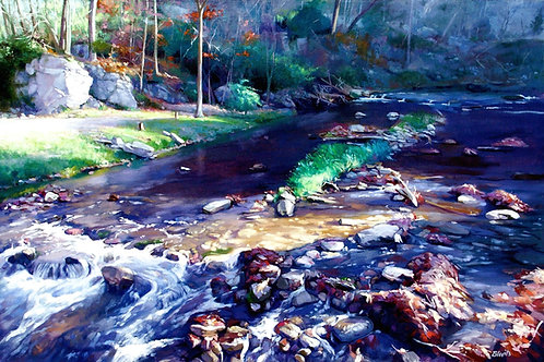Flowing Through Time - oil