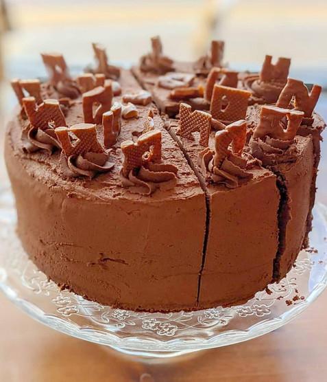 Chocolate Curly Wurly Cake