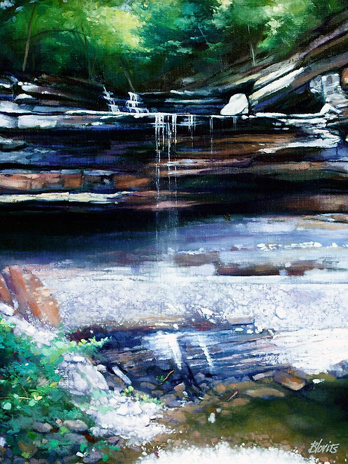 Clifty Park Falls - oil