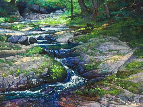 Little Union River - pastel
