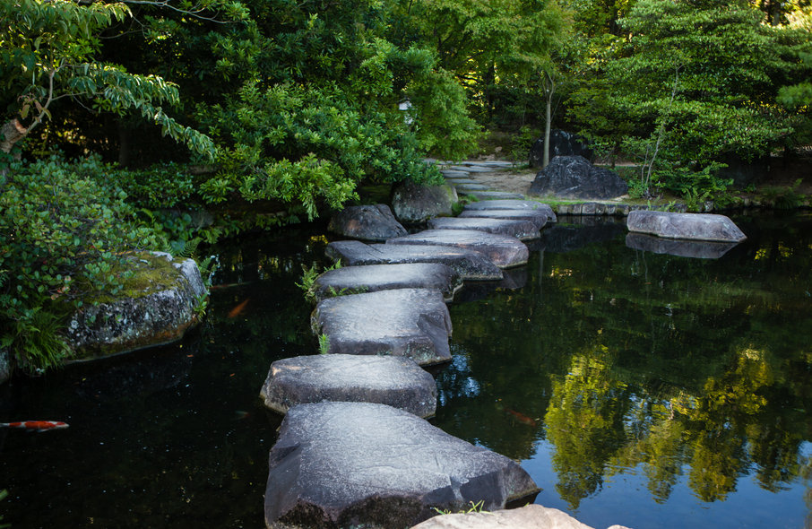 bigstock-Step-stone-path-in-Japanese-ga-