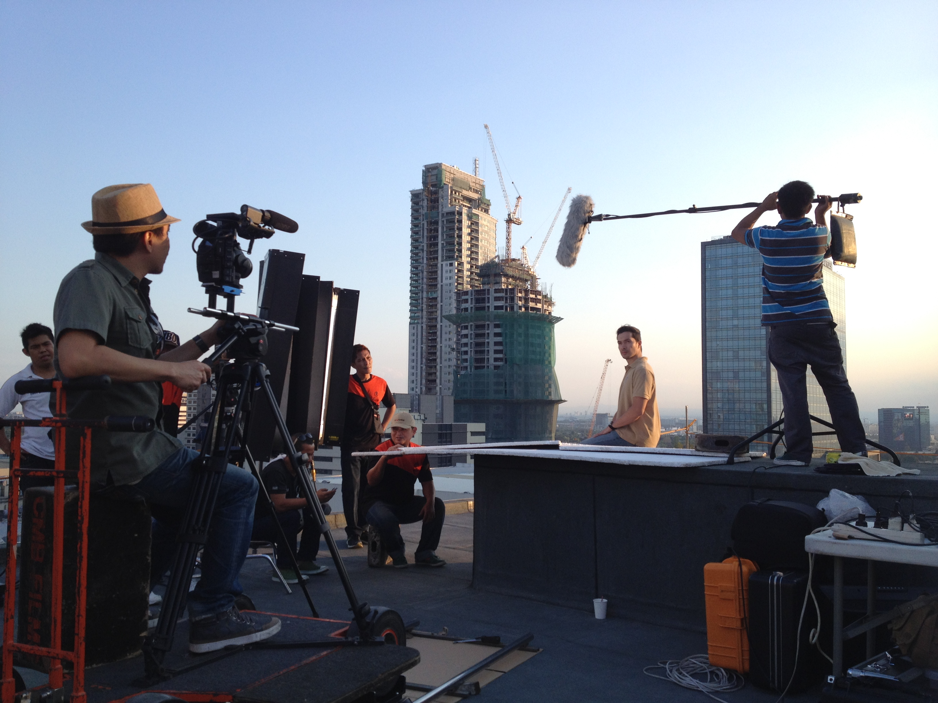 Rooftop shoot by Twenty Manila