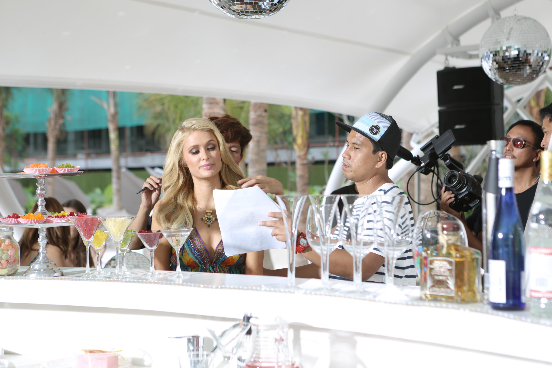 Paris Hilton with Twenty Manila