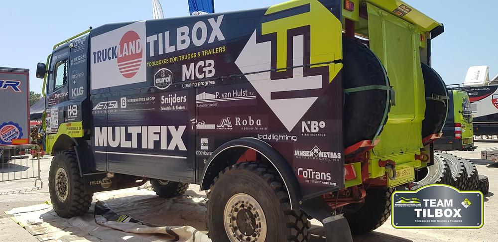 Race truck Tilbox Toolbox Team Tilbox DAF DAKAR MDC
