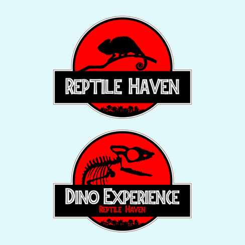 Logos commissioned for Dublin-based REPTILE HAVEN and their DINO EXPERIENCE initiative (in the style of Jurassic Park)