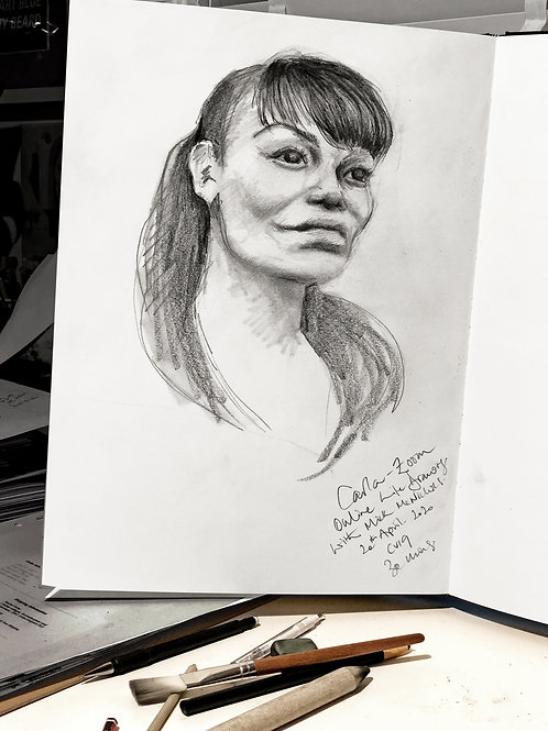 Online Unguided Portrait Drawing session - Wednesday 17th June