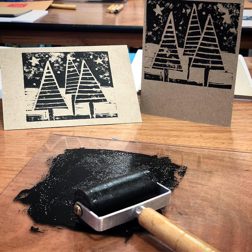 Christmas Lino Printing with Ceira Crainer (Dec)