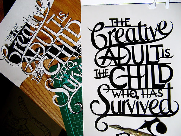 'Creative Adult' paper cut C Green.jpg