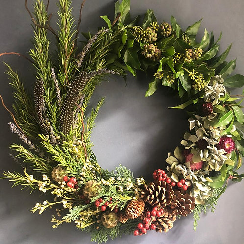 Evening Online Wreath Making - Gathered Garden (1 Dec)