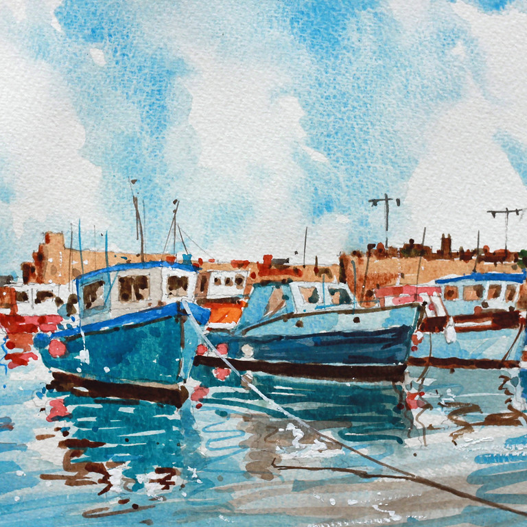 Watercolour, learn to paint Seascapes & Harbours with Kevin Scully