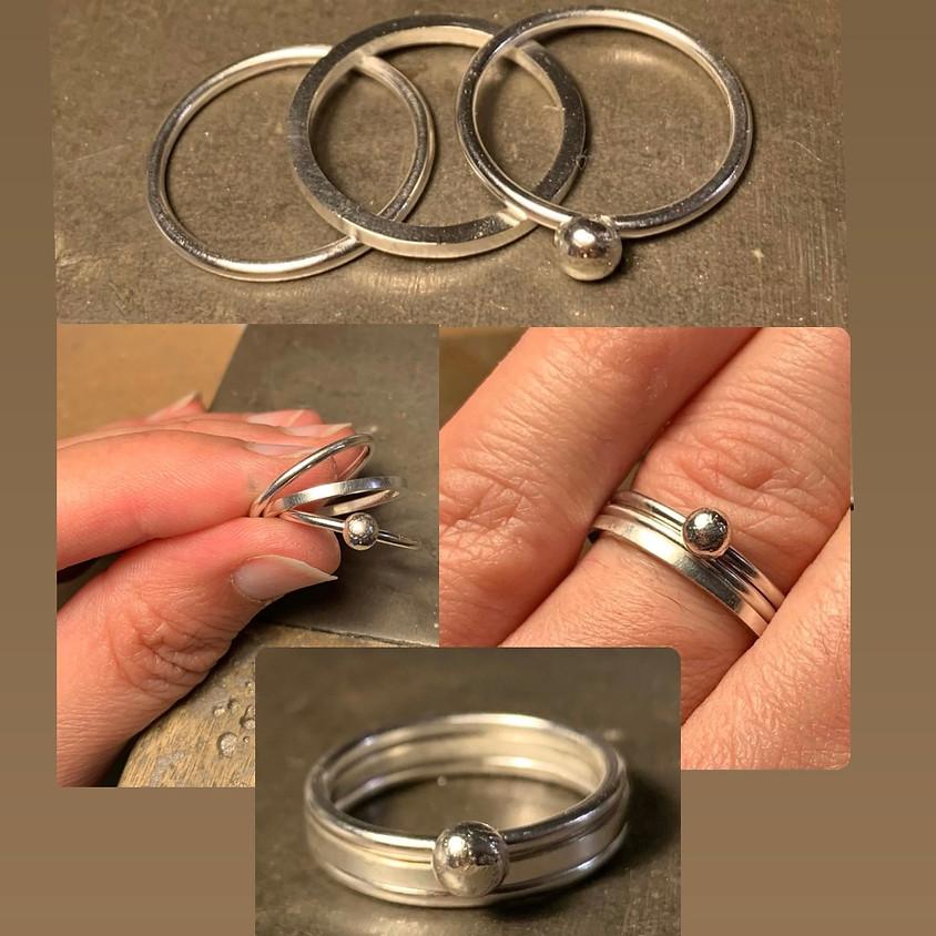 Silver Stacking Rings Jewellery Workshop with Machi De Waard (Dec)